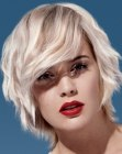 practical short blonde hairstyle