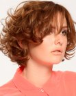 short hairstyle with curly layers