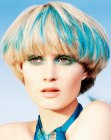 blonde with blue hair coloring