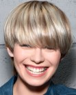 short hairstyle with boyish charm
