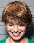 youthful short hairstyle