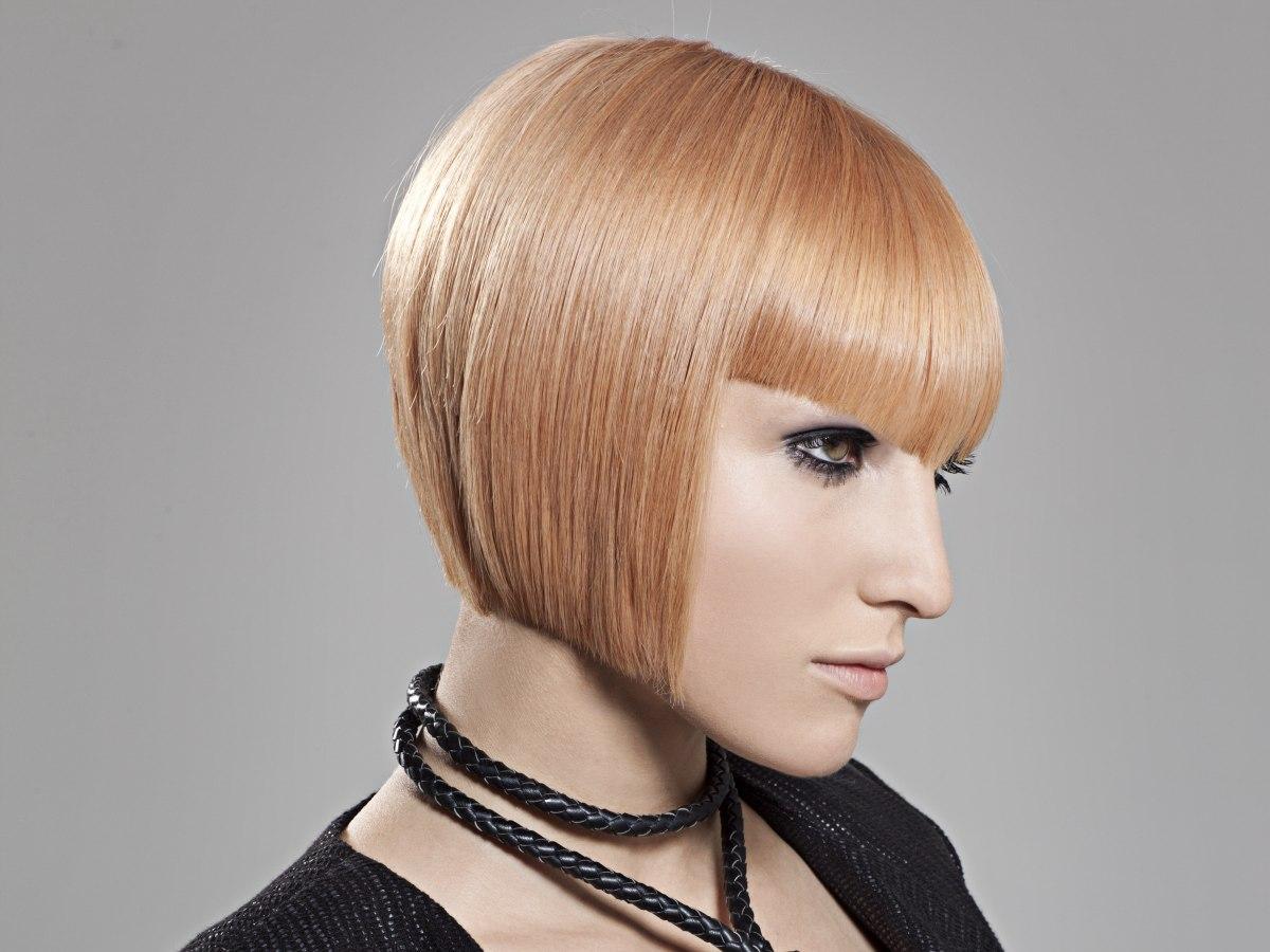 Medium Blonde With A Fringe