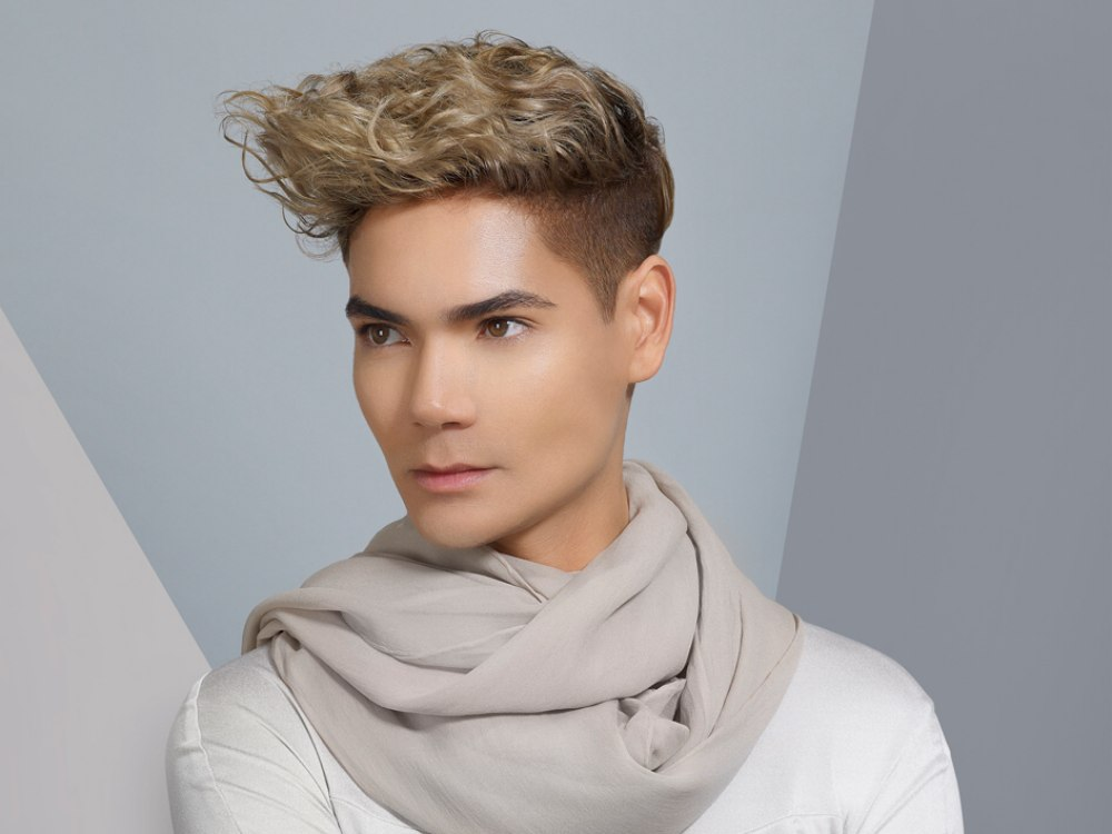 Men's haircut with stubble length clipper cut sides