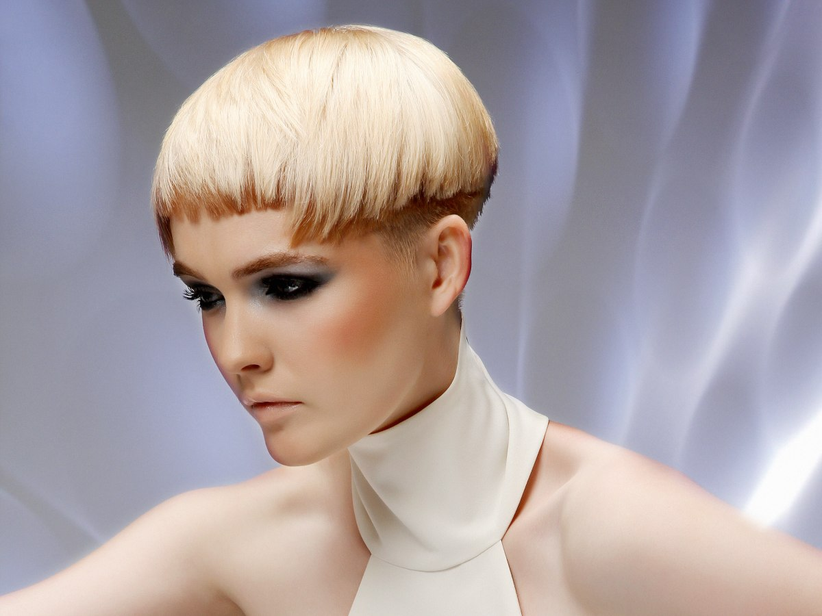 Short Haircut With Two Hair Colors