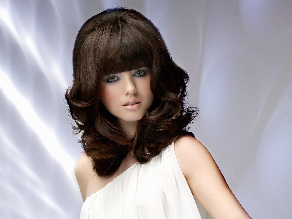 Cool Retro 1960 Hairstyle With Bangs And Height Short Hairstyles Gunalazisus