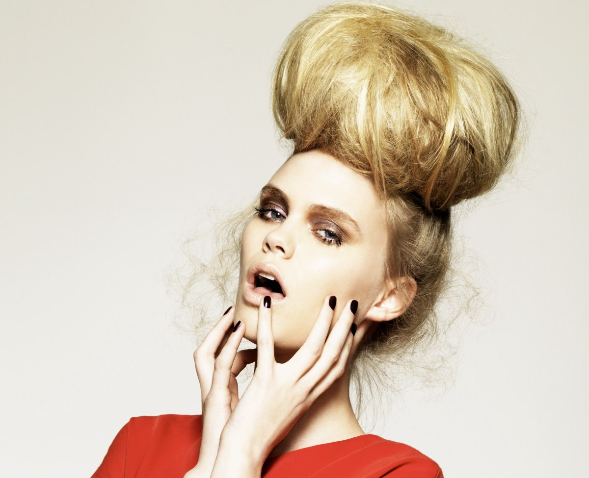 updo with a giant ball of hair
