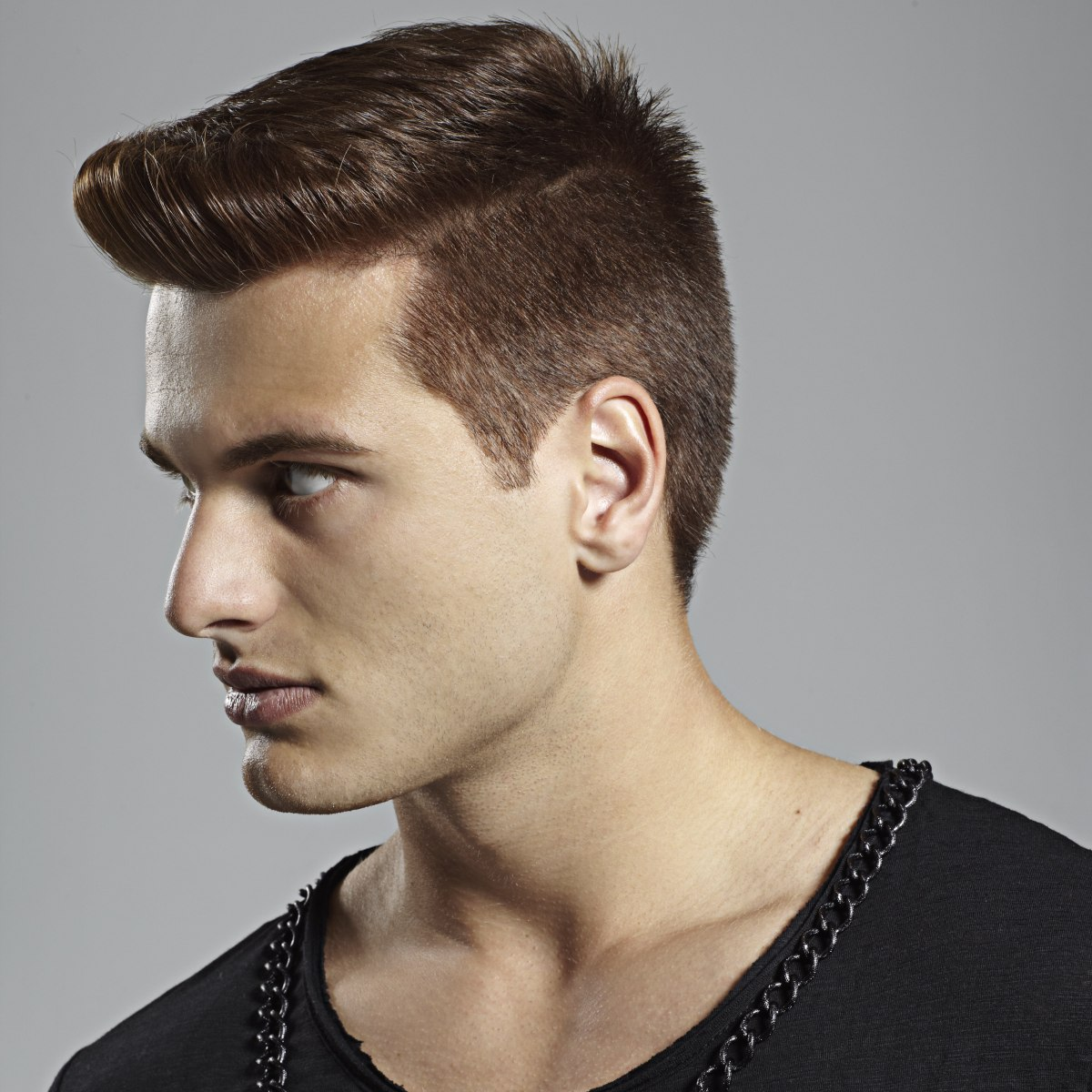 Nice Haircut For Men Combining A Military Buzz Cut And A Quiff