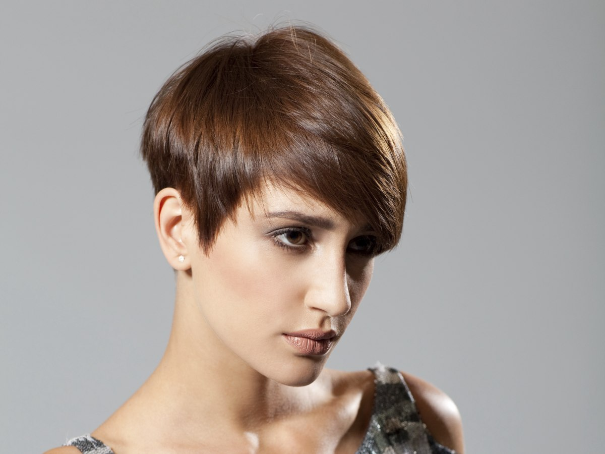 Flattering Haircut, Short All Around With A Long Top