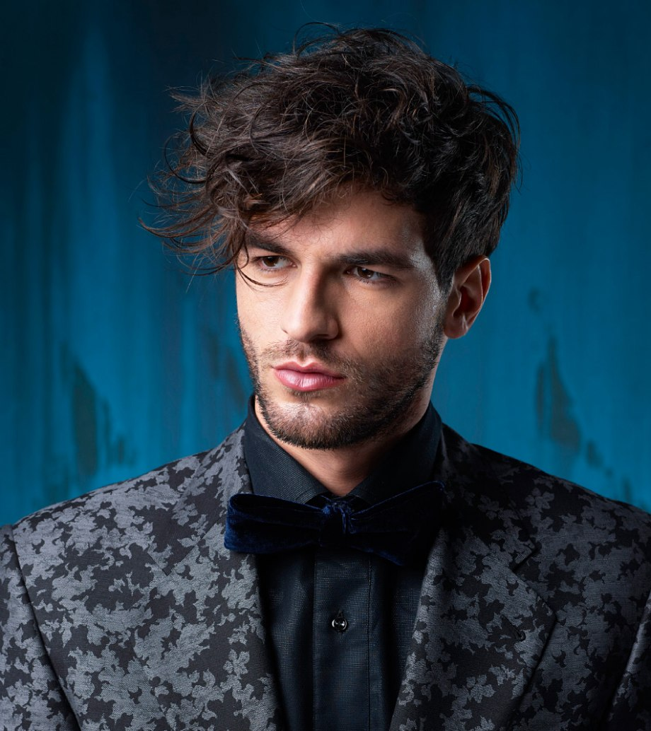 Men S Hairstyle With Short Sides And A Longer Curly Top