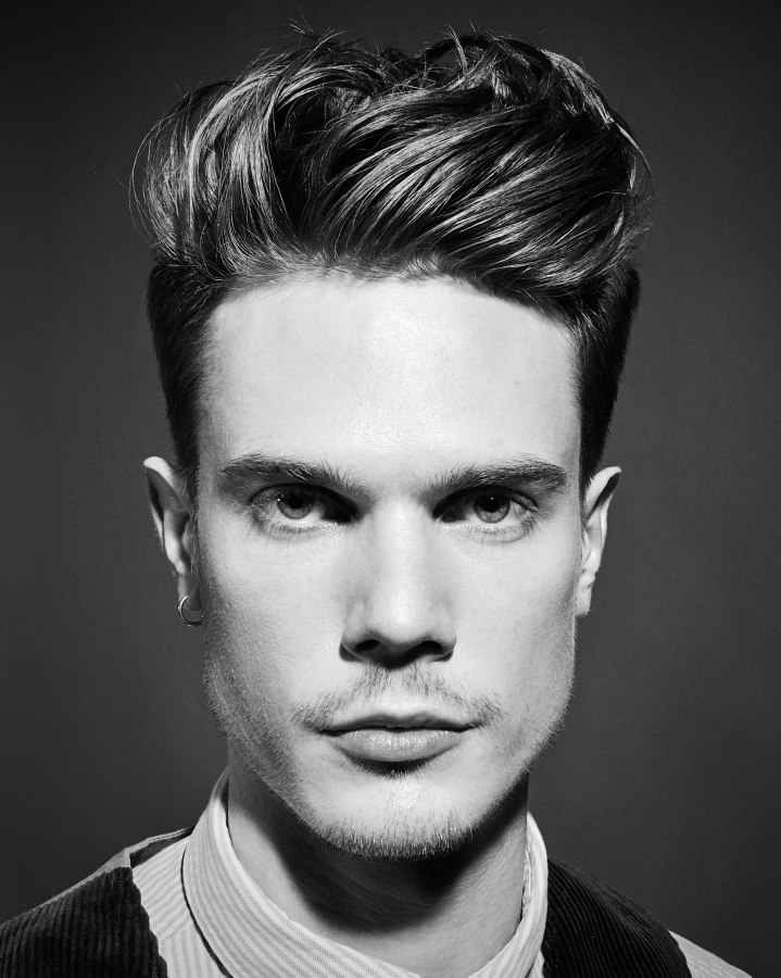 Admirable Neat Men39S Hairstyle With Super Short Shaven Sides And Long Top Hair Short Hairstyles For Black Women Fulllsitofus