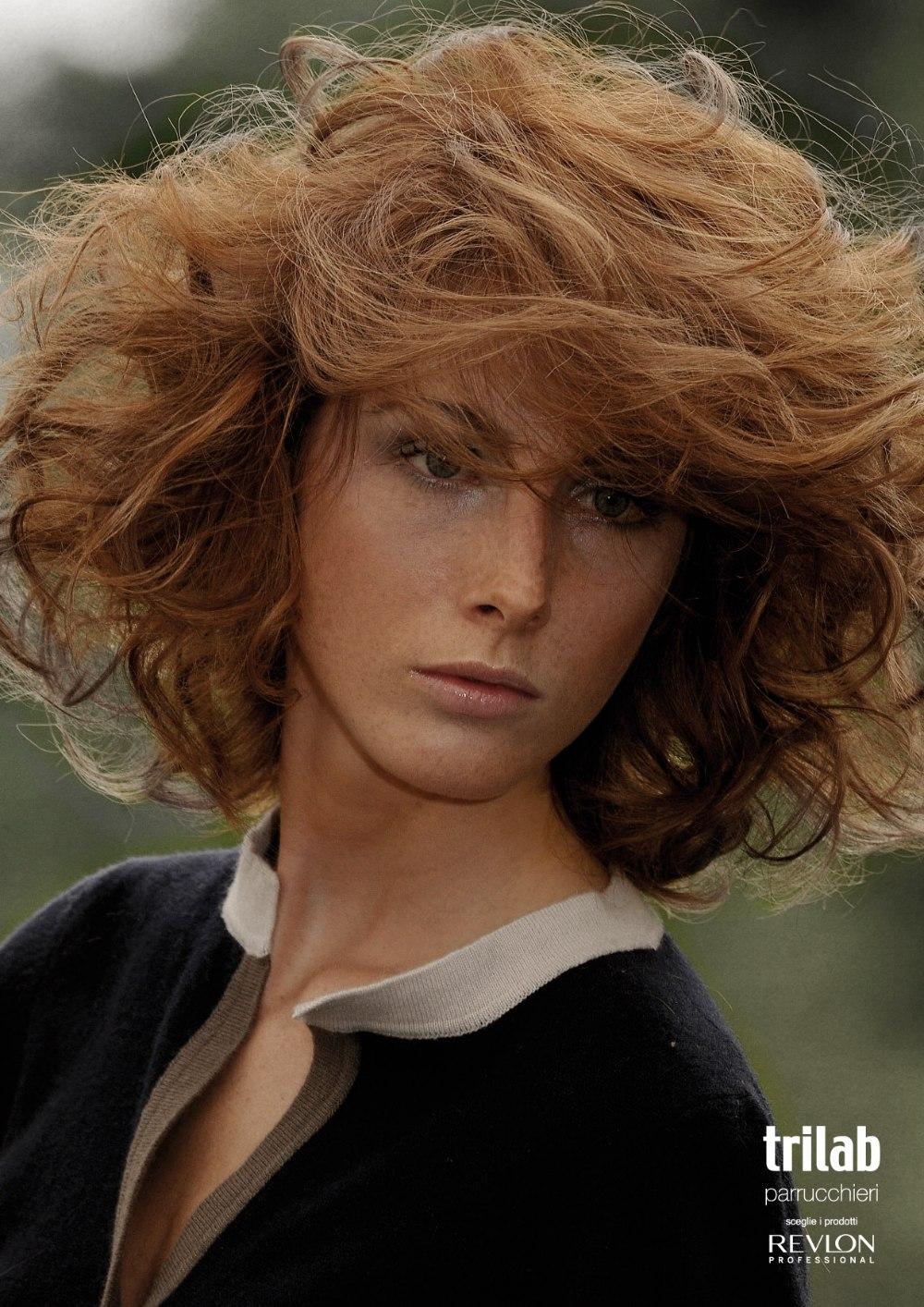 Medium Long Layered Hair Treated To Create Volume