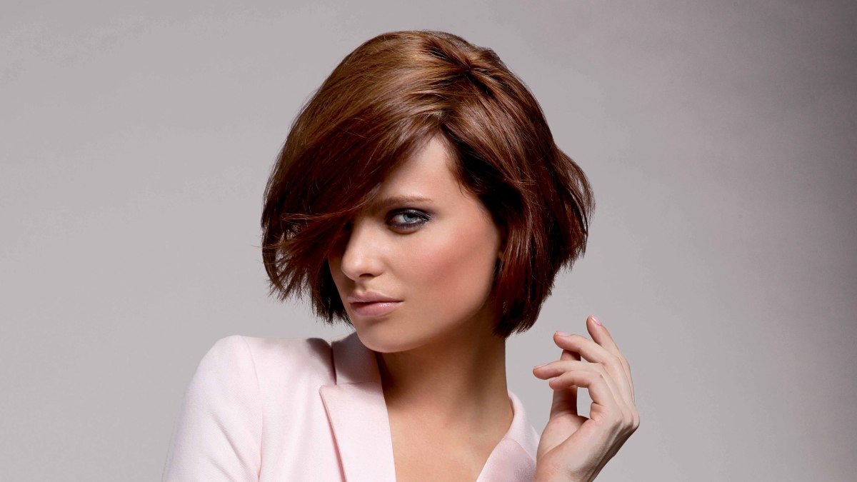 short bob hairstyle with layers haircut for thick hair. Black Bedroom Furniture Sets. Home Design Ideas