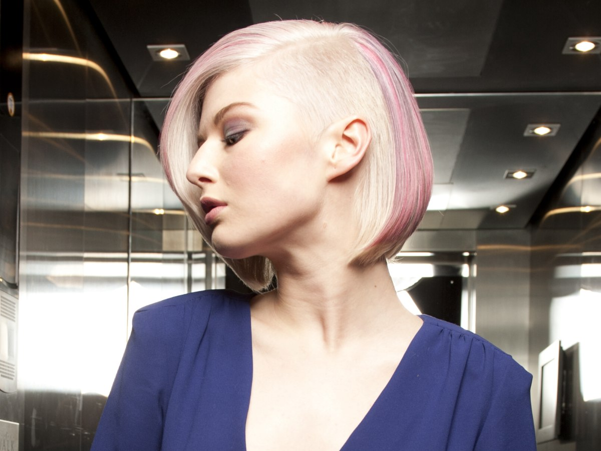 Bob Haircut With A Millimeter Short Clipper Cut Section