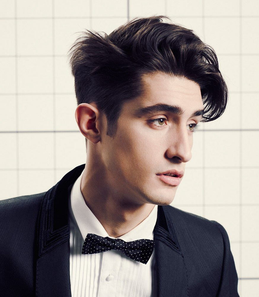 contemporary men's haircut with clean lines and expressive length