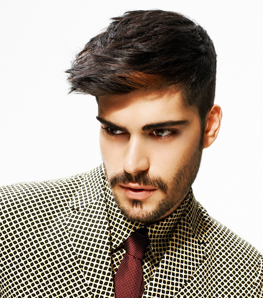 men's haircut with modern elements and a wow factor