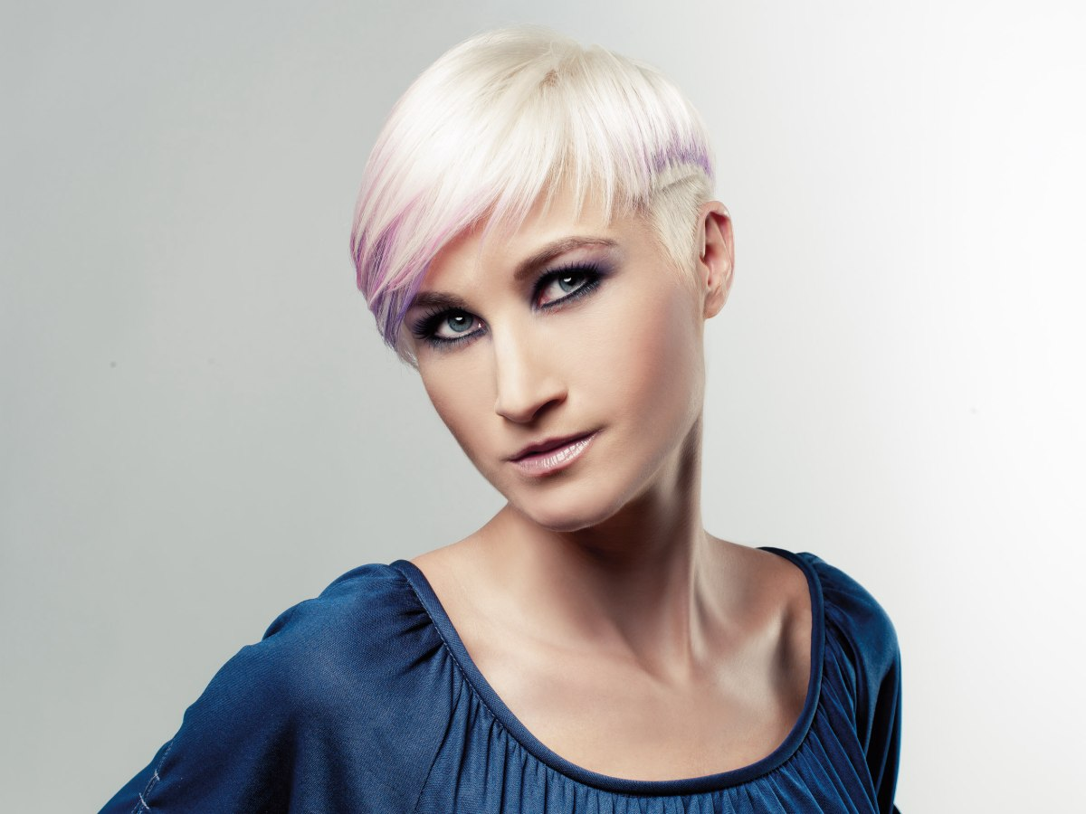 G Style Hair City: Blonde With A Dip Of Purple