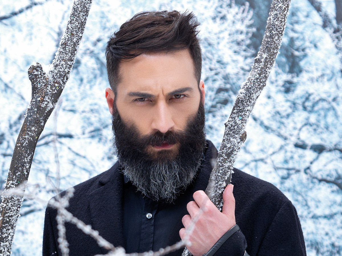 Rugged Men S Look With A Natural And Long Full Beard