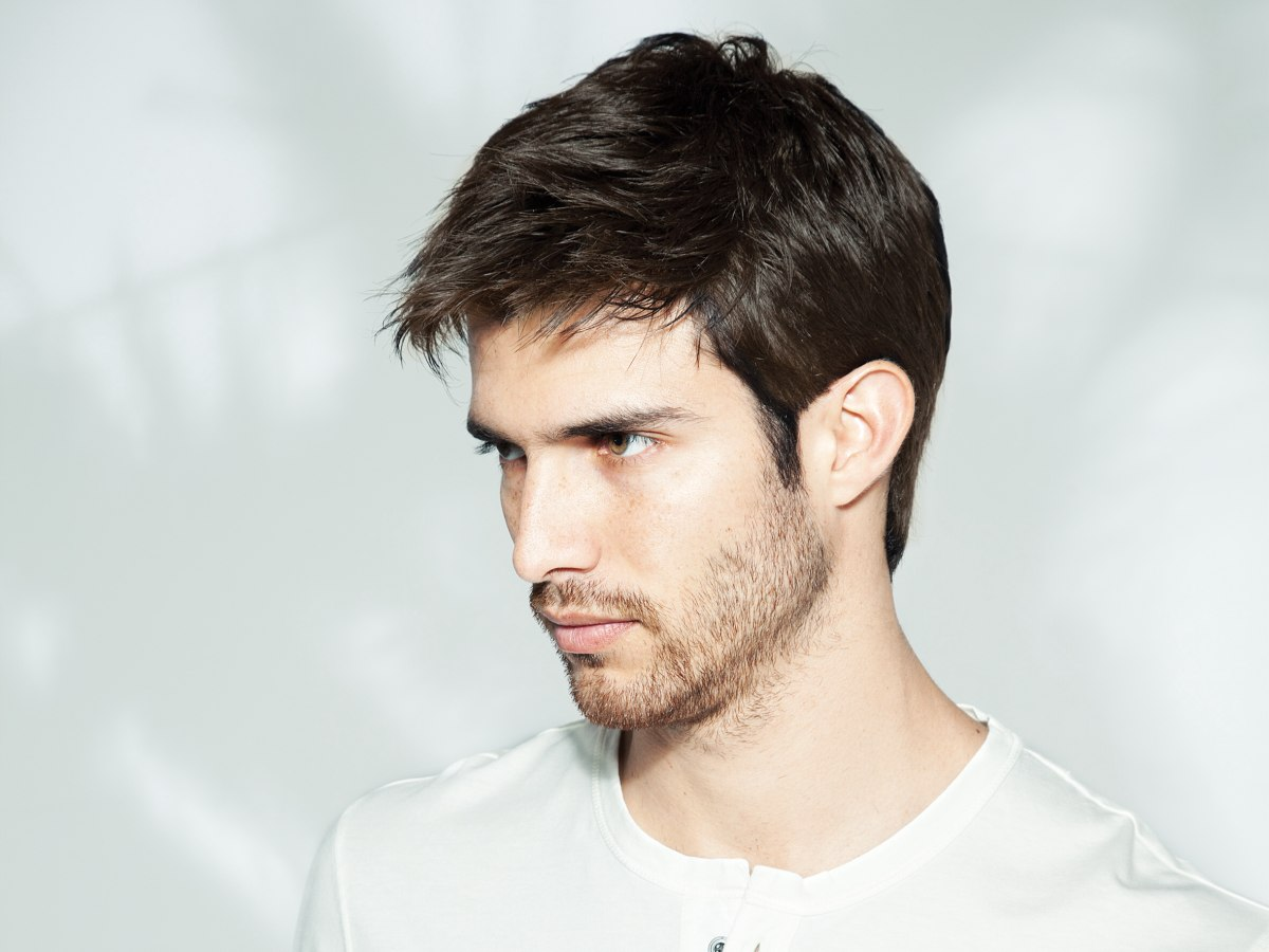 sexy hairstyles men : Sexy mens haircut and good looking stubbles