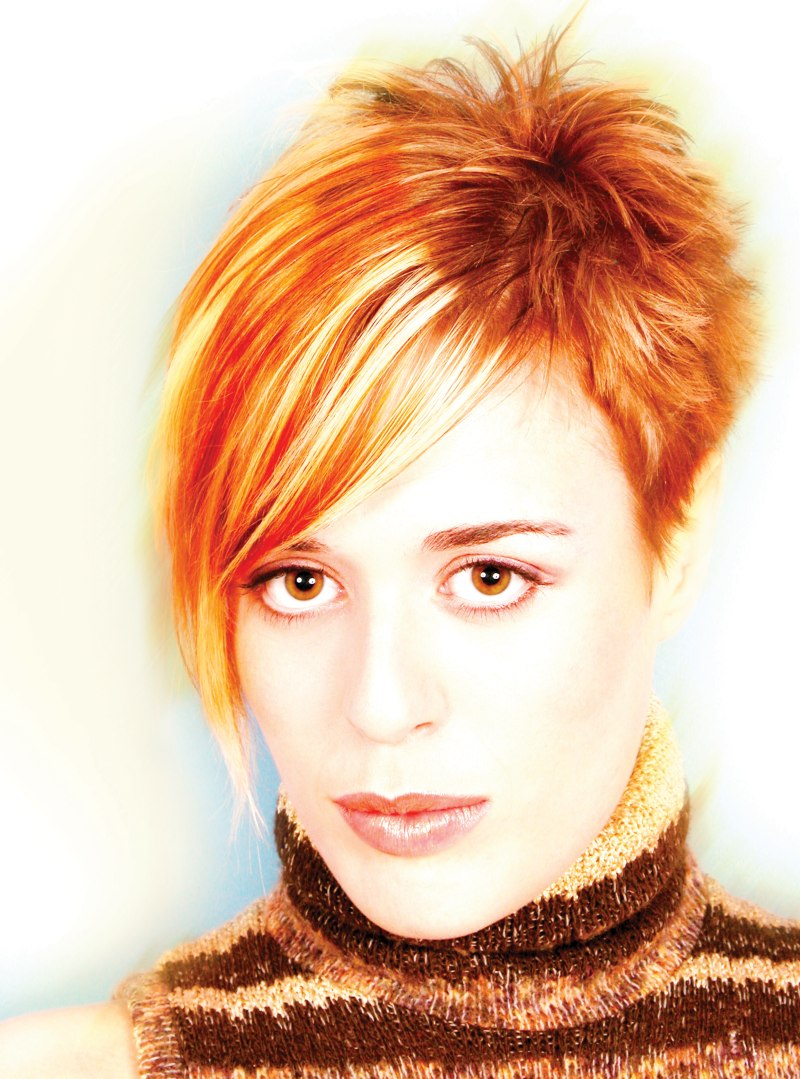 Short Hair With Spikes And A Combination Of Blonde Copper