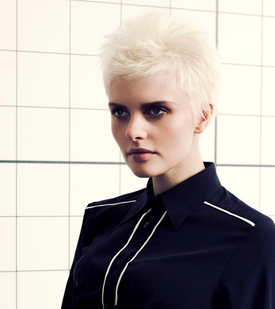 White hair haircuts