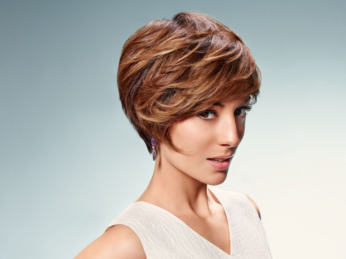 Short Hairstyle With Layers For Women With A Small Face