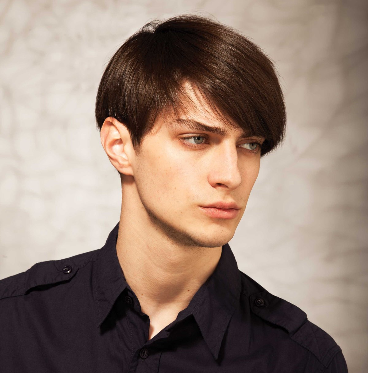 long fringe hairstyle for men with thick hair