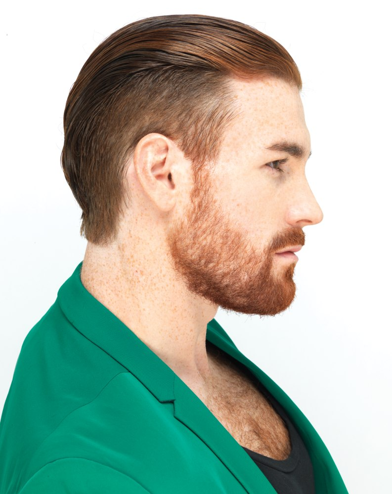 Light Reddish Blonde Hair Masculine style with a...
