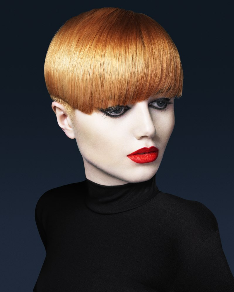 Pale skin, short hair and a light copper hair color