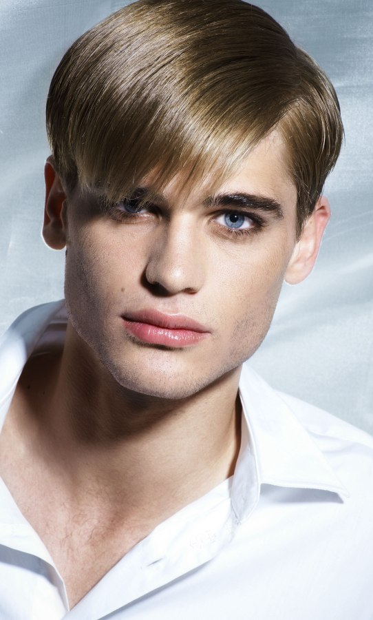 Retro Men S Hairstyle With Sleekness And Shine