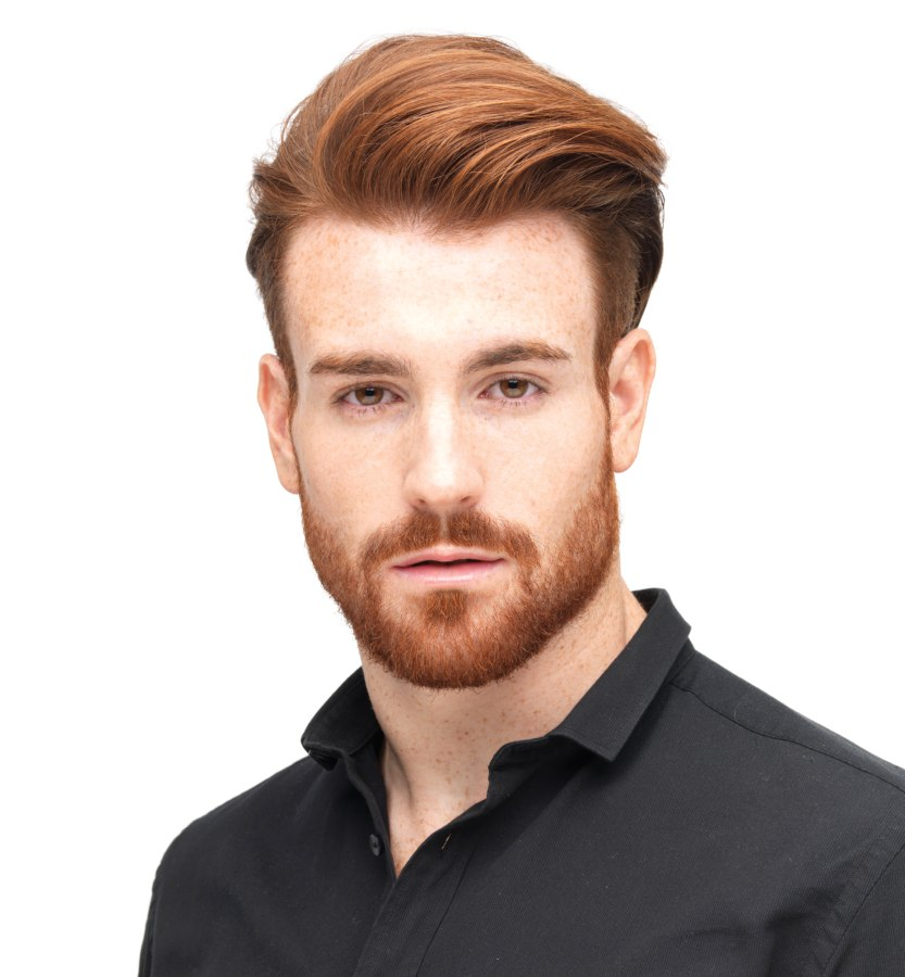 Versatile men's hairstyle with long top hair