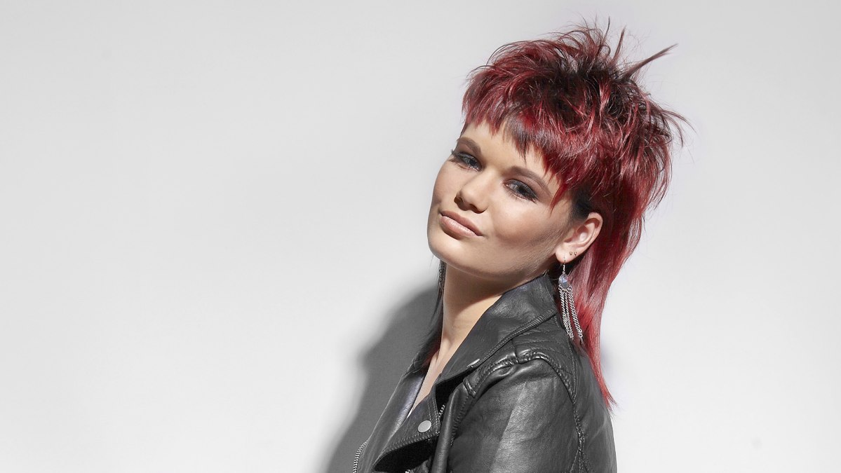 Mullet With Spikes And A Jagged Fringe For Red Hair
