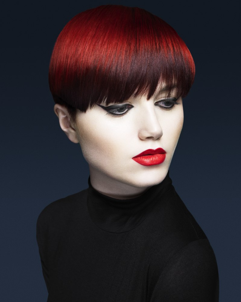 Short Hair With A Deep Rich And Luscious Red Color
