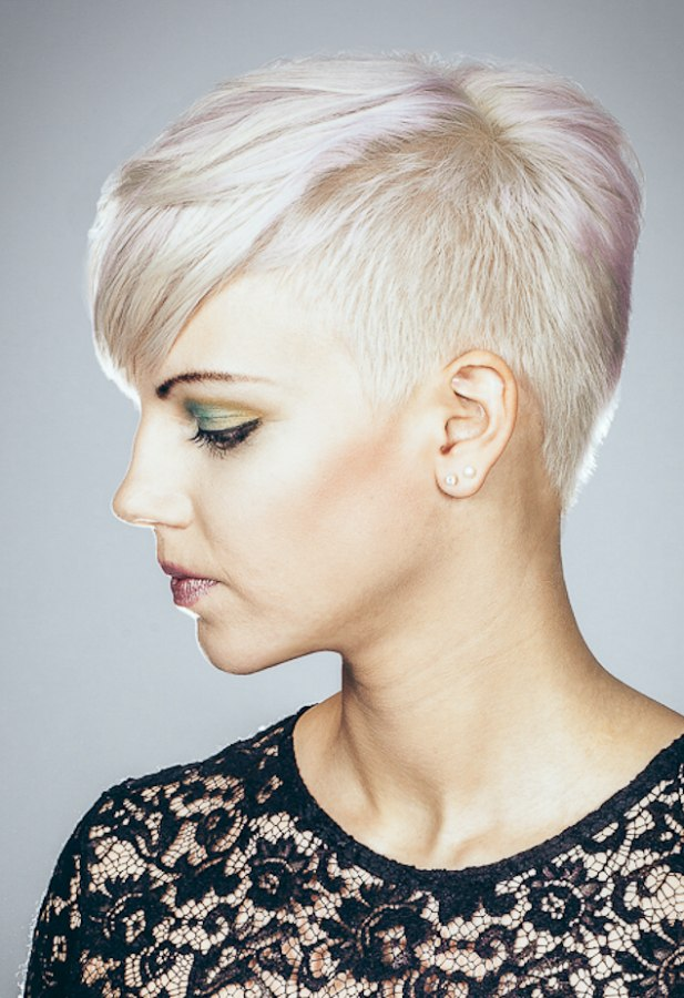 Hairstyle with a very short nape section