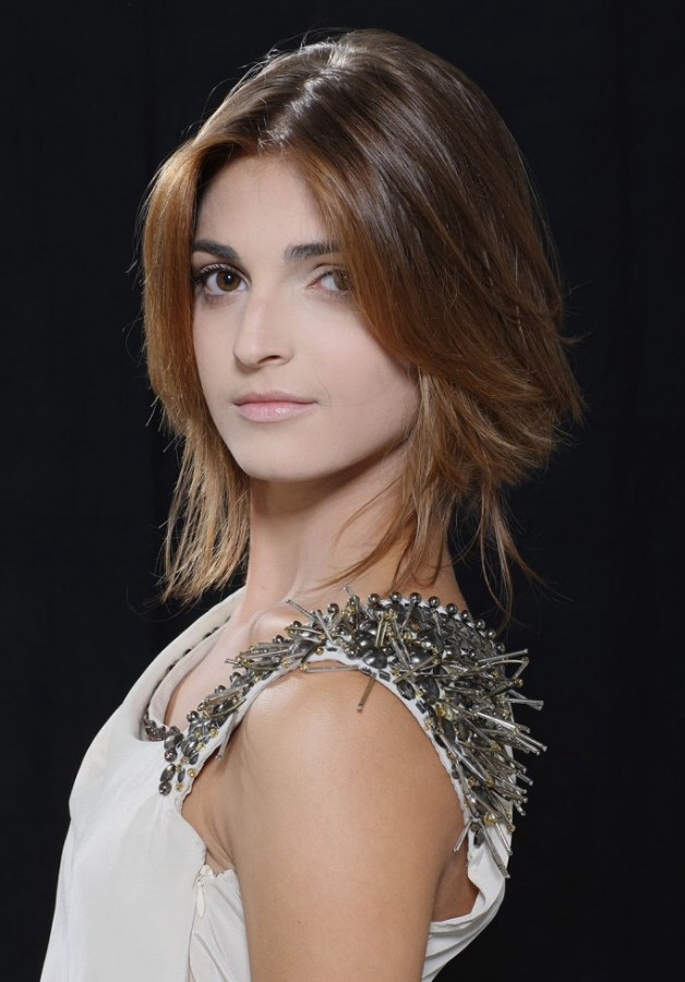 Soft Medium Length Hairstyle With Feathery Layers And A