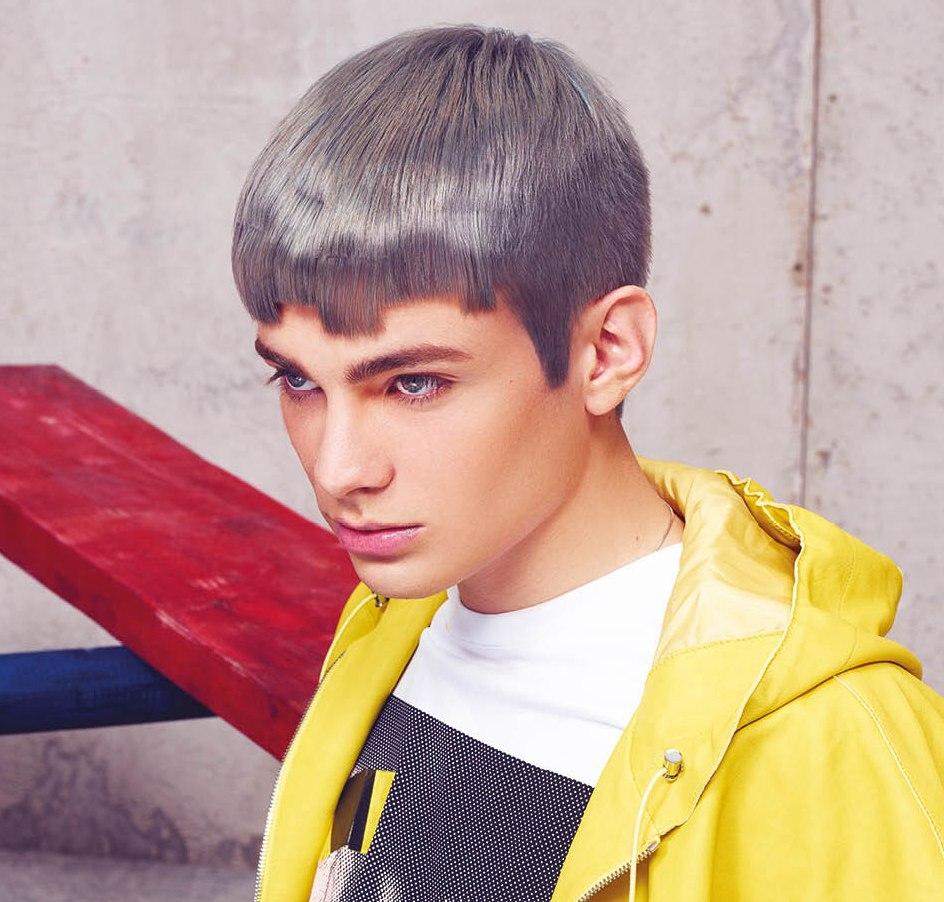 Eccentric Men S Hair With A Metallic Gray Or Darkened