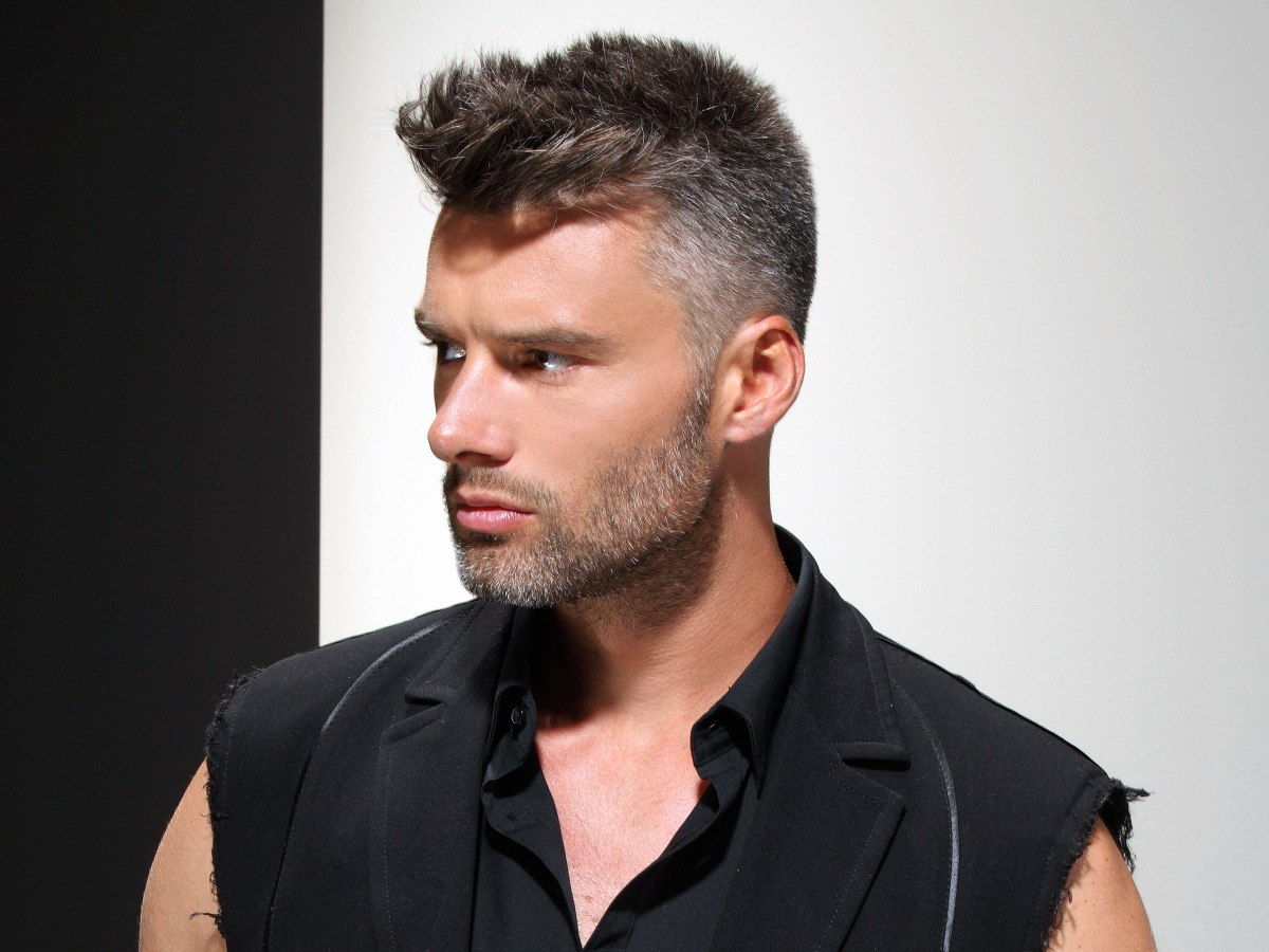 Awe Inspiring Practical Short Clipped Men39S Hair With A Salt And Pepper Color Short Hairstyles Gunalazisus