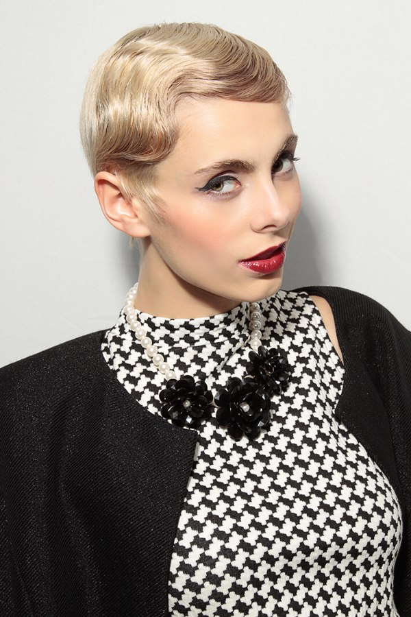 Contemporary Short Hair With A Large Vintage Water Wave