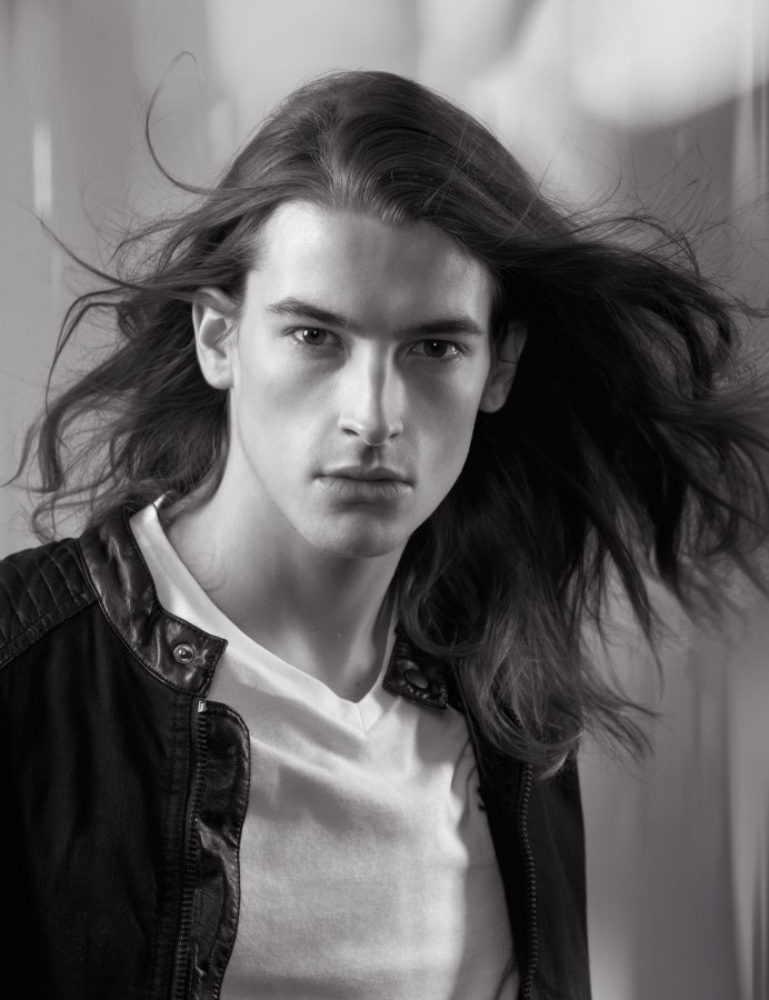 Well Groomed And Long Flowing Hair For Men
