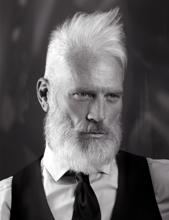 Sensational Wild And Rugged Look With A Long Beard For Older Men Short Hairstyles Gunalazisus