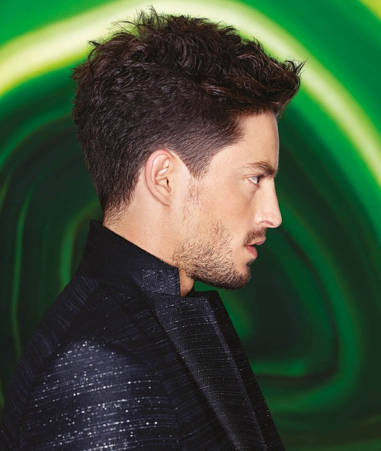Professional Haircut With Finely Clipped Sides For Men
