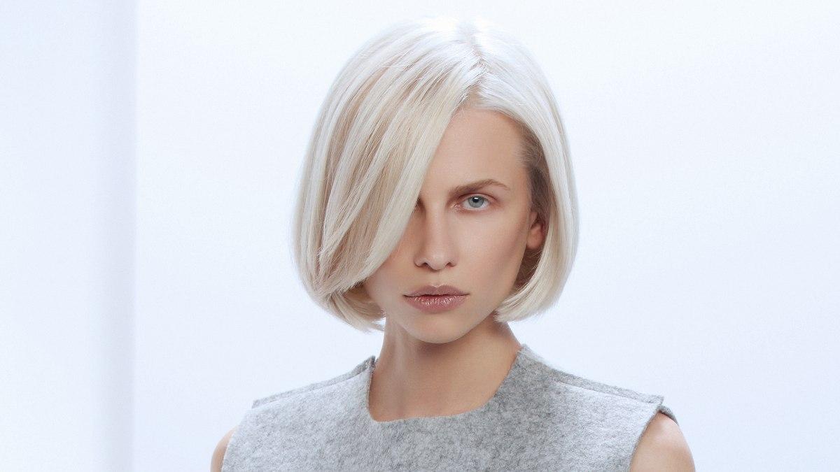Admirable Blonde Bob With Inward Styling Of The Lower Edge Short Hairstyles Gunalazisus