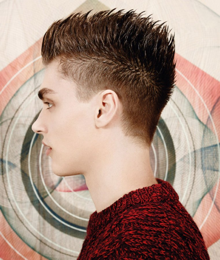 Short Men S Hair In A Hedgehog Style With Sharp Spikes