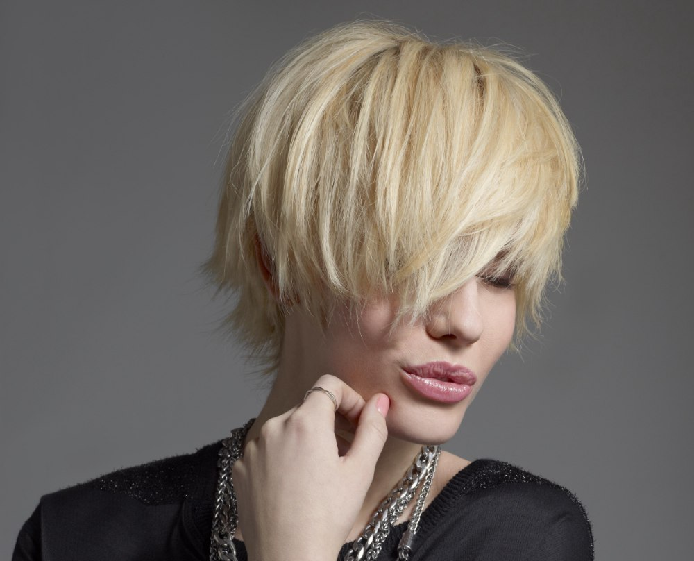 Short And Sexy Hair With Focus On The Fringe