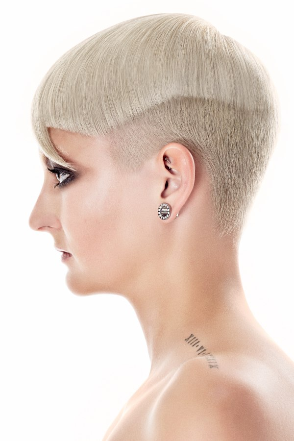 Very Short Half Undercut Hair With Crisp Lines And