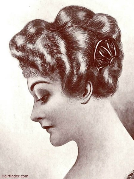 haircut styles for hair hair style 1915 hairstyle with waves for a world war 1 5354