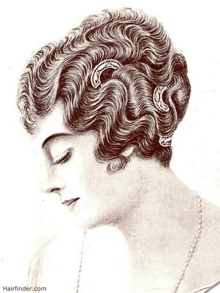 hair styles for braids vintage 1914 hairstyle with waves and the ear lobes showing 1914