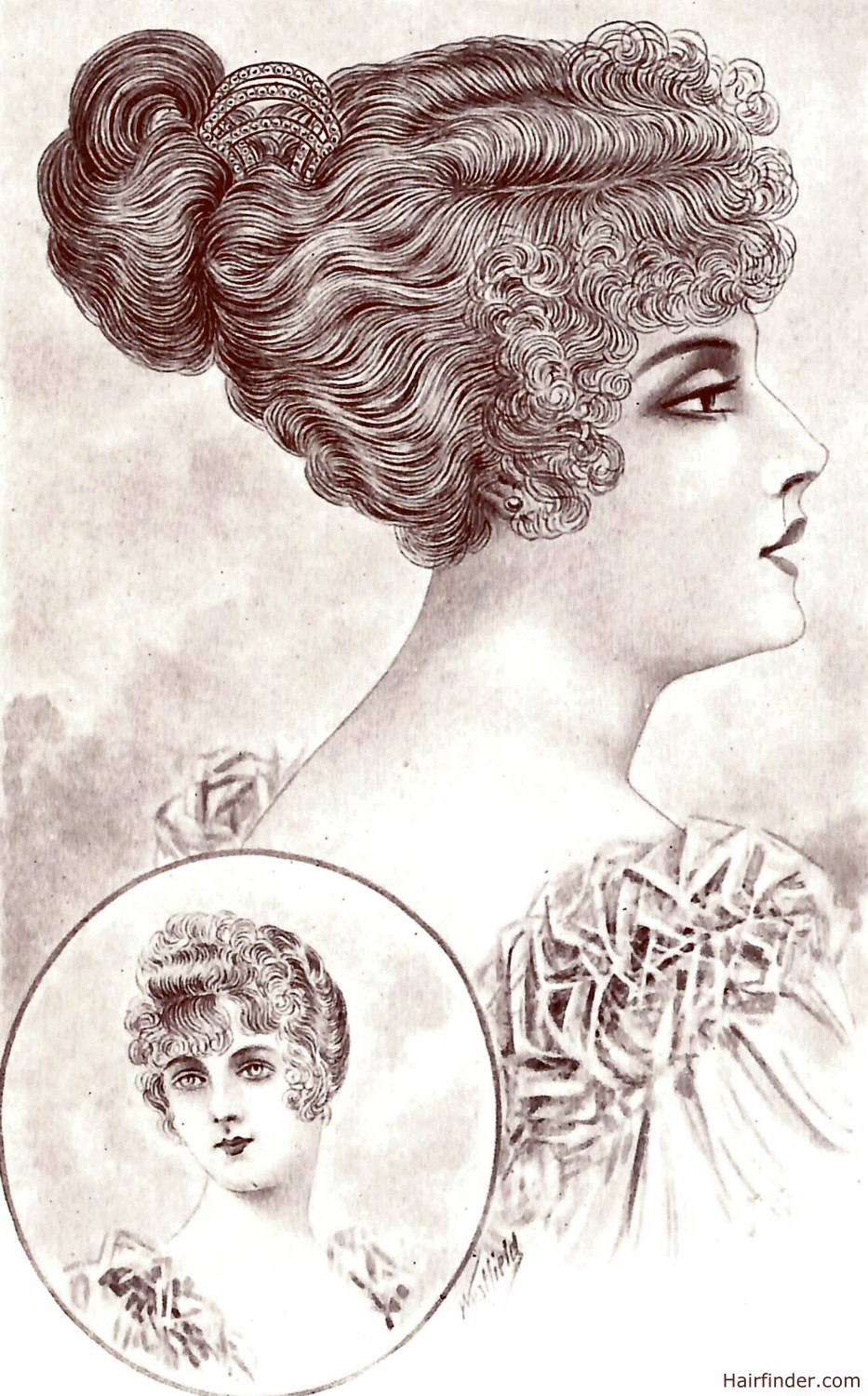 Adored Vintage 12 Vintage Hairstyles To Try For: 1920s Hairstyle With Ringlets And A Faux-fringe