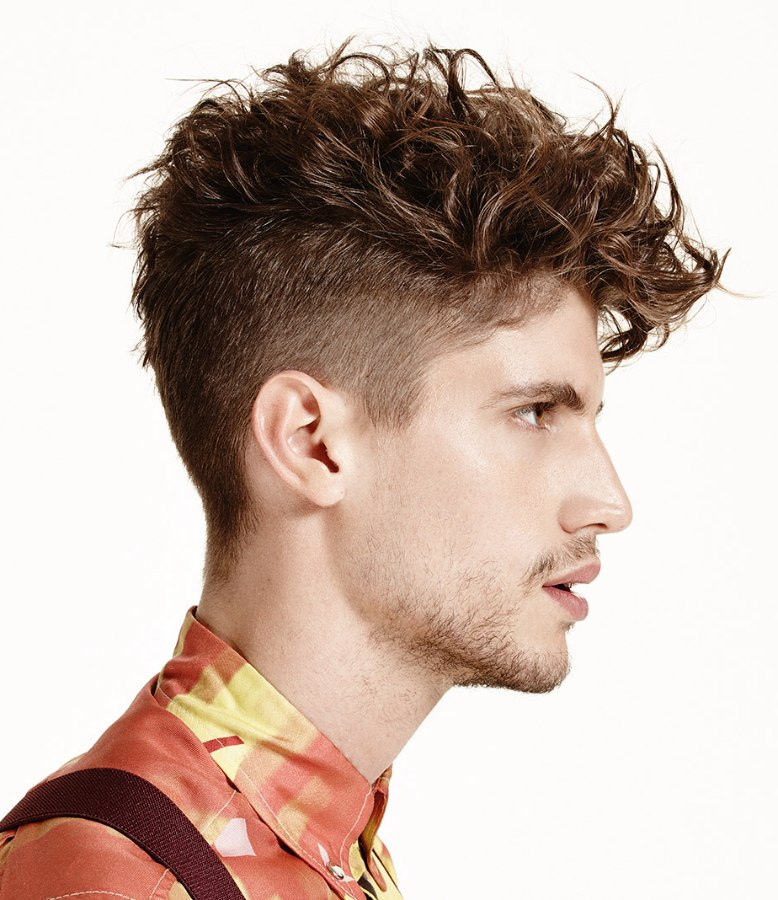 Men S Hairstyle With Curls And An Undercut