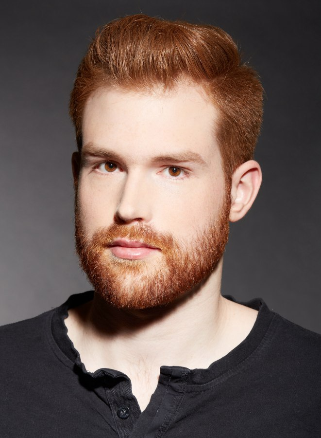 Contemporary Short Haircut For A Male Redhead