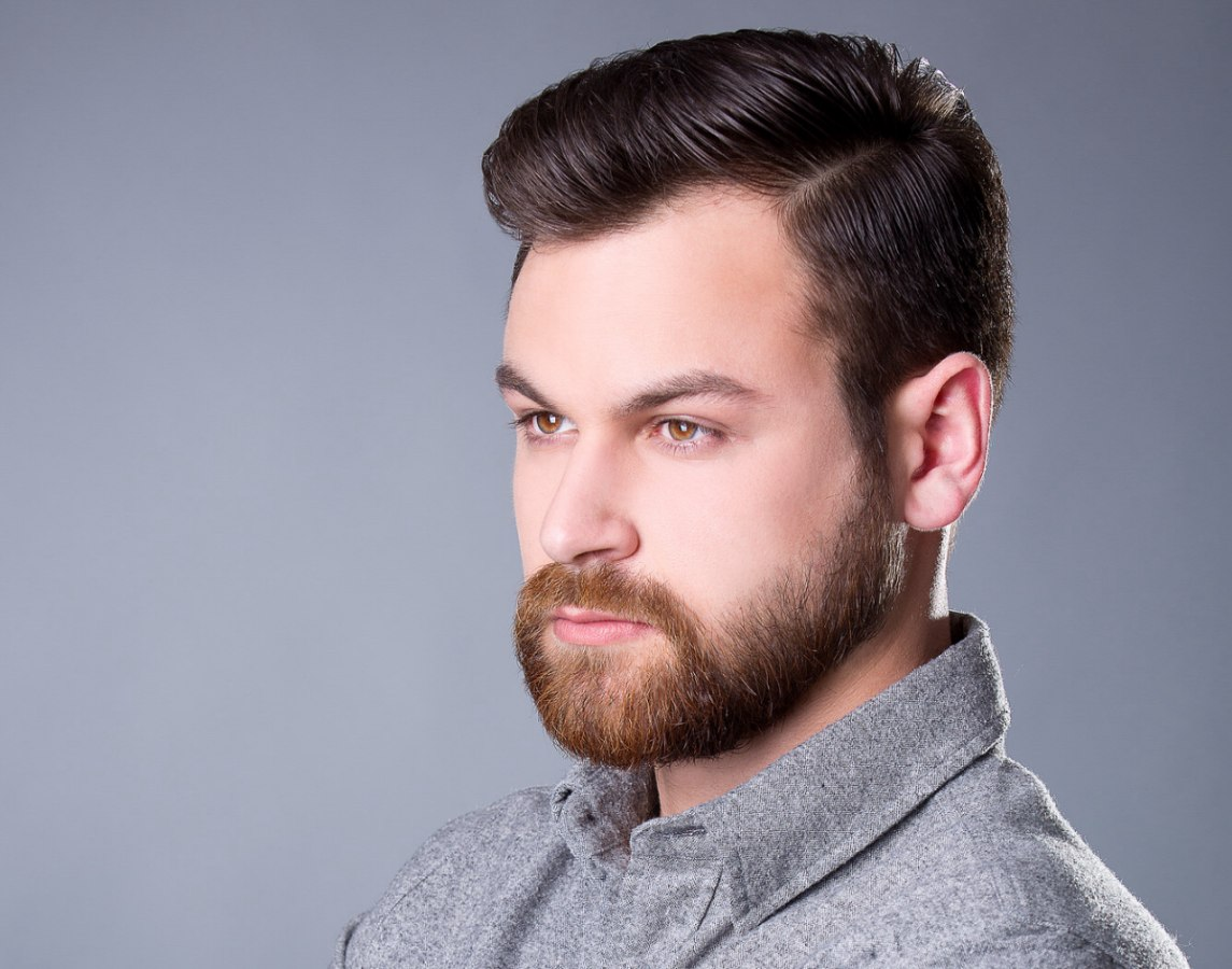 Superb Traditional Hairstyle And A Beard For Men With Thick Hair Short Hairstyles Gunalazisus